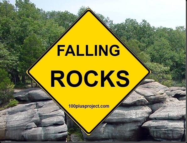 falling rocks back