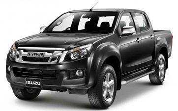 2012-Isuzu-D-Max-pickup-black-crew-cab