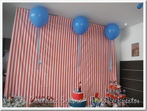 Mesa circo Clean; Festa circo Clean Vintage