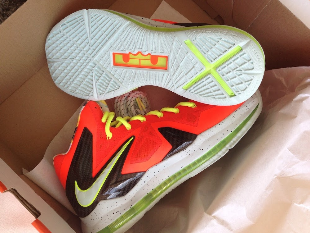 Nike LeBron 10 PS Elite Cool Grey Volt Black