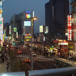 shinjuku bridge view in Shinjuku, Tokyo, Japan