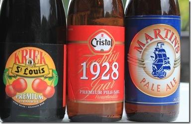 KRIEKSt Louis3.2%  Cristal 1928 5.8%  MARTIN'S PALE ALE5.8%