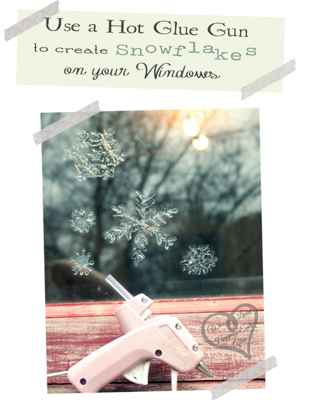 Window Snowflakes Using a Glue Gun