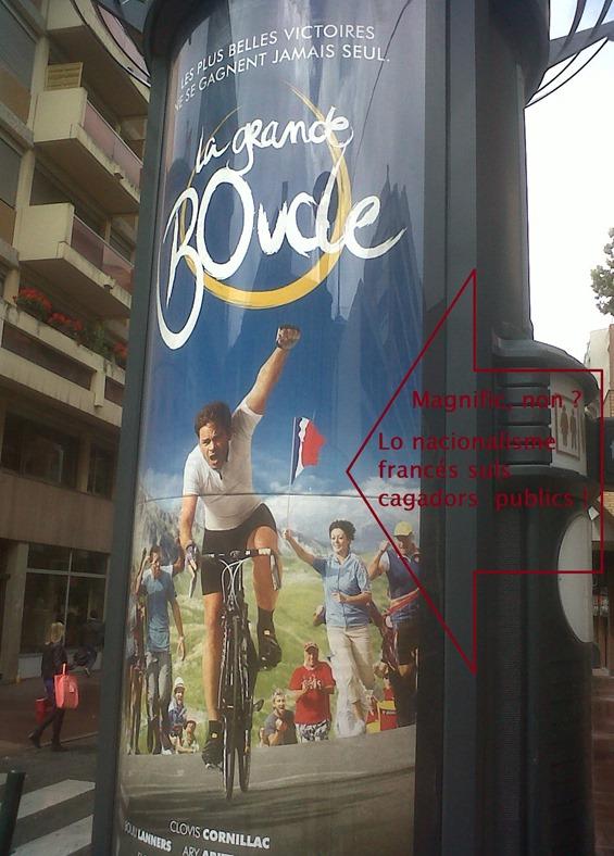 Nacionalisme francés suls cagadors publics