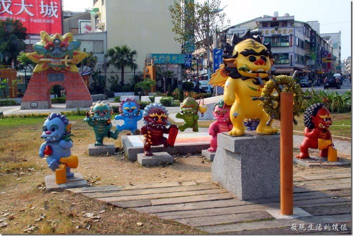 好可愛的劍獅公仔,台南安平劍獅公園