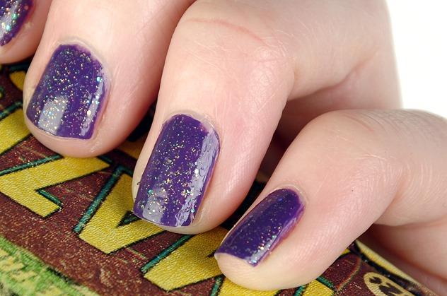 sinful colors nail polish ufa amethyst NOTD purple orange glitter