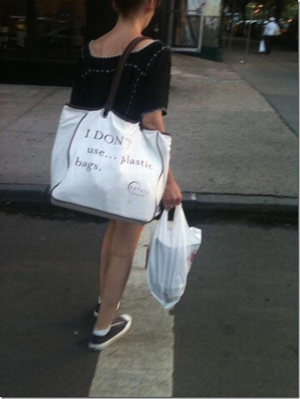 Não utilize sacolas plasticas