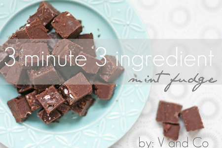 V & Co. 3 Minute 3 Ingredient Mint Fudge