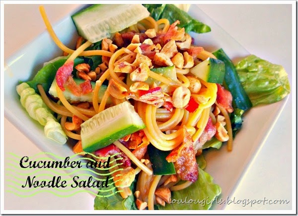 cucumber and noodle salad