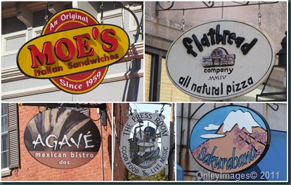 oval signs collage