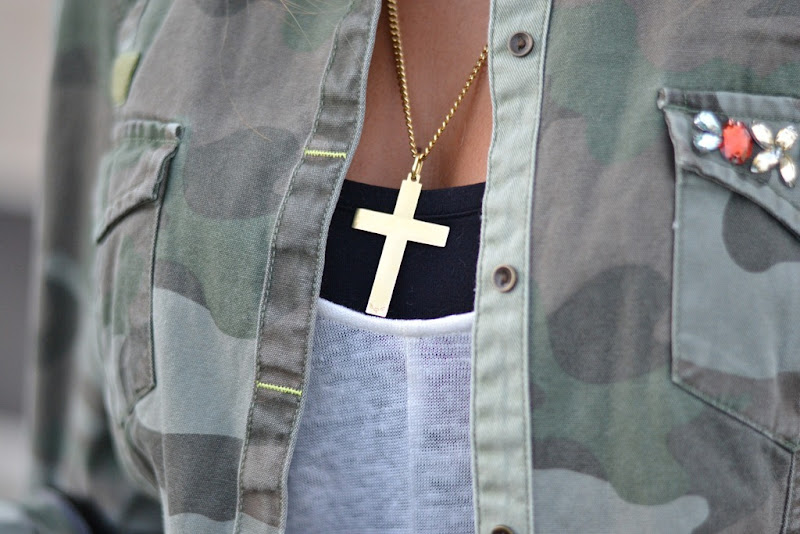 Zara, Zara Militay Style, Cross Necklace