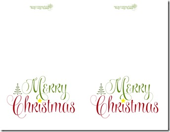 Merry Christmas traditional cards for personal use