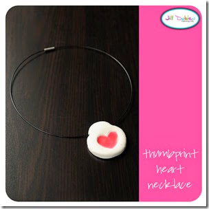 Thumbprint Heart Necklace from Meet the Dubiens