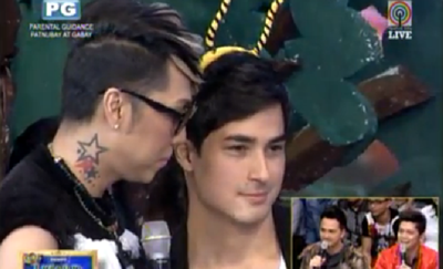 Marlon Stockinger with Vice Ganda in It's Showtime