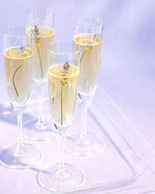 Adding lavender is a simple way to make Champagne a bit more elegant and fresh.