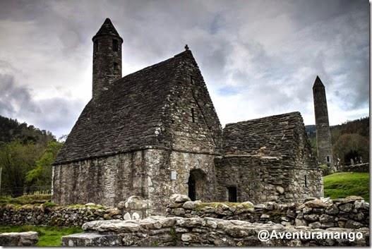 Igreja de pedra, Glendalough - Irlanda