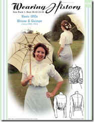 1910's Blouse Pattern available on Wearing History's Pattern website.