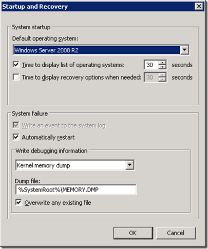 Windows 2008 System Startup