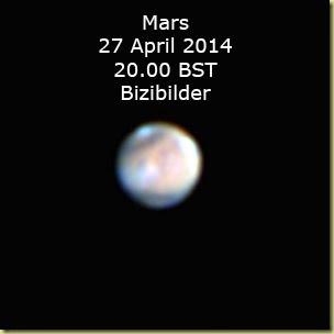 27 April 2014 Mars