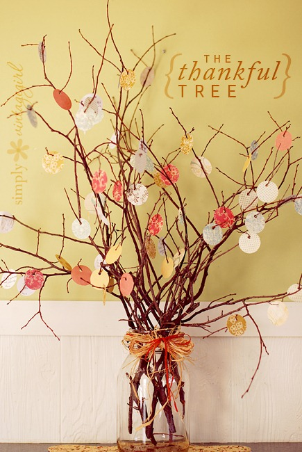 the thankful tree by simply vintage girl