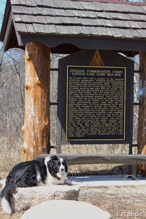 CCC marker at Missouri Lake