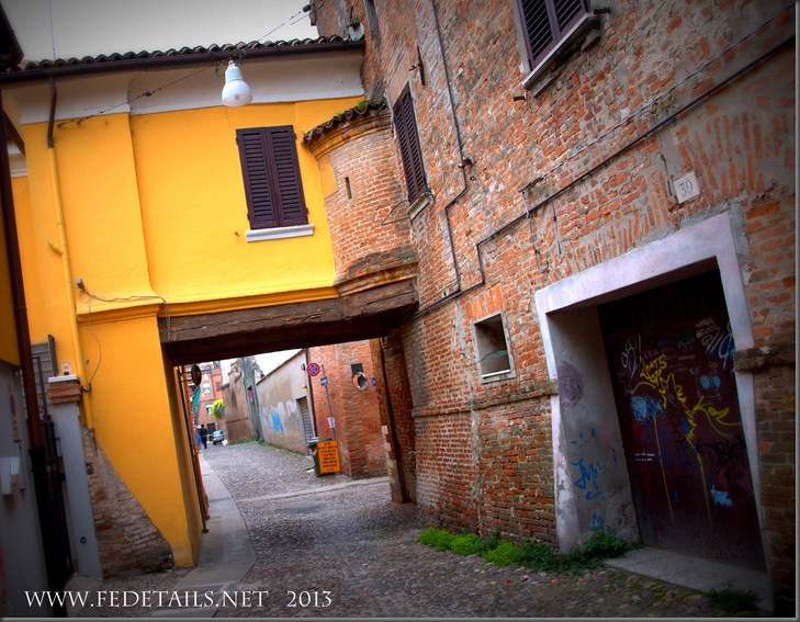 Via Capo delle Volte, Ferrara, Emilia Romagna, Italy - Property and Copyrights of FEdetails.net