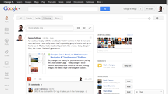 New Google Plus design Home tab