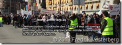 DSC06915 (1) Amorism. Demonstration mot att somliga muslimer angriper kristna och förstör kyrkor i Egypten