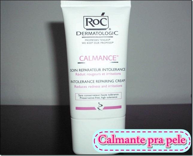 Roc  calmance- hidratante calmante pra pele