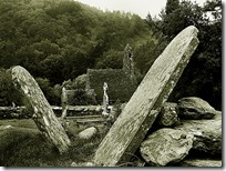 Glendalough-ireland-black-white-gravestones