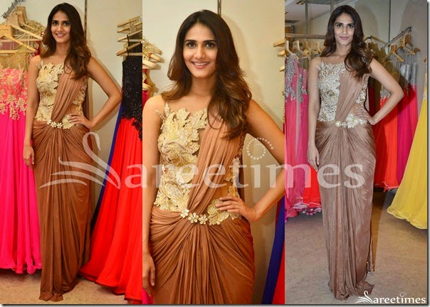 Vaani_Kapoor_Brown_Saree