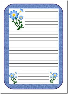 Blue Flower Letter Paper