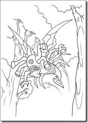 desenhos para colorir do Ben 10 insectoide