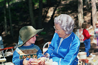 Me camping with great Grandma Redmond. All family holidays and vacations were camping or hiking trips until I was in middle school.