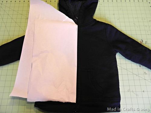 fold freezer paper in half
