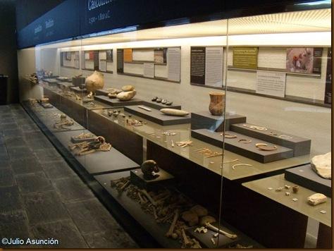 Vitrina Paleolítico - Edad del Bronce - Museo de Navarra