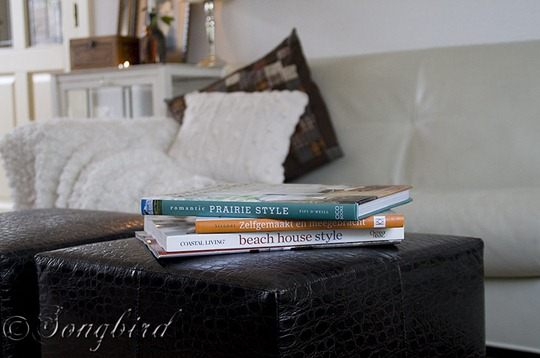 Fall Living Room Decoration Books
