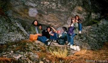 Lance, Michael, Sue, Matthew, Steven, Deborah, Melody, and friend in Guacamole Cave
