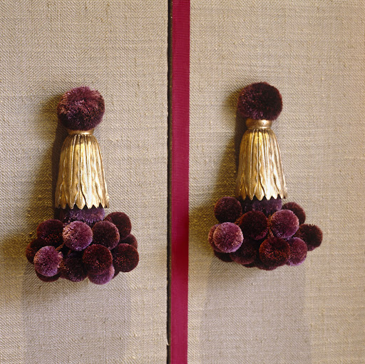 These handles are so whimsical and charming. This color plum keeps popping up on my radar (see Oct 29th post). I love the combination with gold.