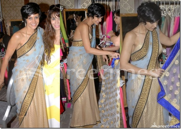 Mandira_Bedi_Blue_Gold_Half_and_Half_Saree
