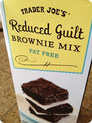 Trader Joe's reduced guilt brownies