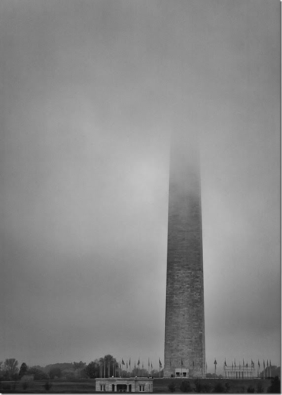 Washington Monument in the Fog