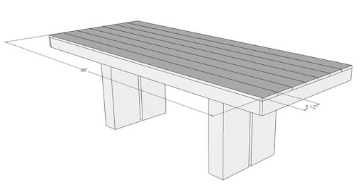 DIY Outdoor Patio Table Tutorial Top Dimension