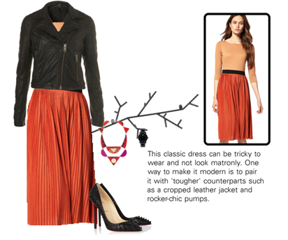pleated midi dress1