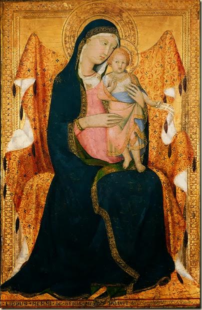 Vierge à l'enfant, Ecole siennoise
