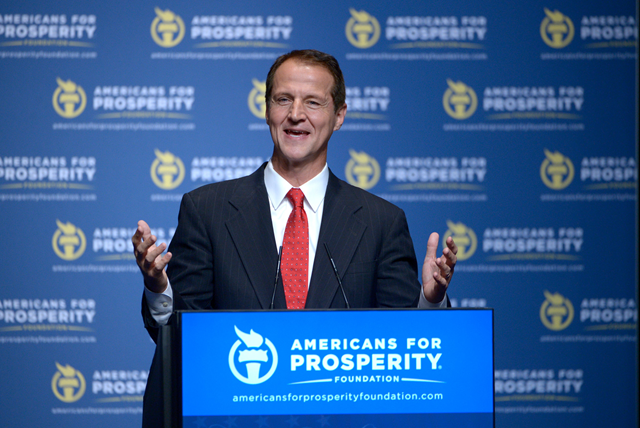 Tim Phillips, the president of Americans for Prosperity, in 2013. AFP is backed by David H. and Charles G. Koch and has been pouring millions of dollars into competitive Senate races to the rising alarm of Democrats. Photo: Phelan M. Ebenhack / Associated Press