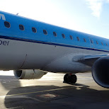 taking KLM cityhopper from Amsterdam to Berlin in Berlin, Berlin, Germany