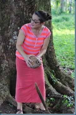 Edi husking coconut TUES