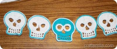 crochet sugar skulls