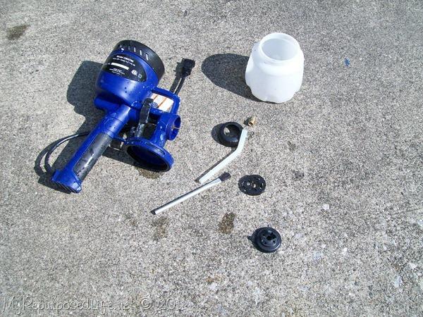 clean paint sprayer